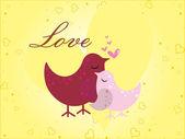 Vector ilustración de fondo de amor — Vector de stock