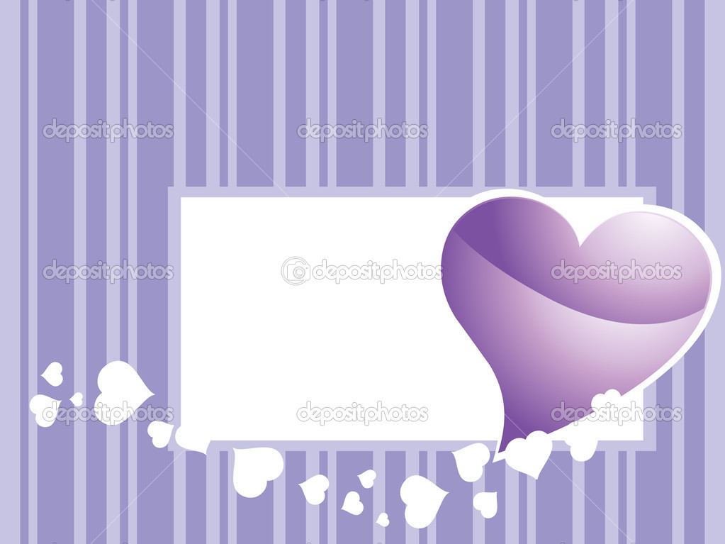 Vector illustration of romantic love background — Stock Vector #4350856