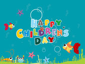 Background for children day — Stock Vector
