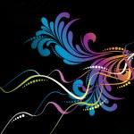 Vector creative floral background — Stock Vector #4640666