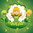Royalty-Free Stock Vector Image: Illustration for patrick day 17 march