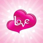 Romantic valentine day illustration — Stock Vector