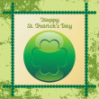 Royalty-Free Stock Vector Image: Texture background with patrick day icon