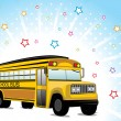Background with school bus — Stock Vector #4792250