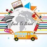Funky school background illustration — Stock Vector