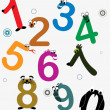 Stock Vector: Vector funky numbers