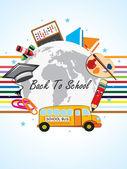 Ilustración de fondo escuela funky — Vector de stock