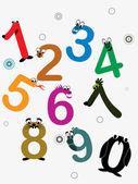 Vector funky numbers — Stock Vector