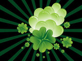 Background with beautiful shamrock — Stock Vector