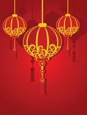 Иллюстрация в течение китайского нового года — Cтоковый вектор
