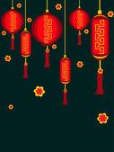 Illustration för kinesiska nyåret — Stockvektor