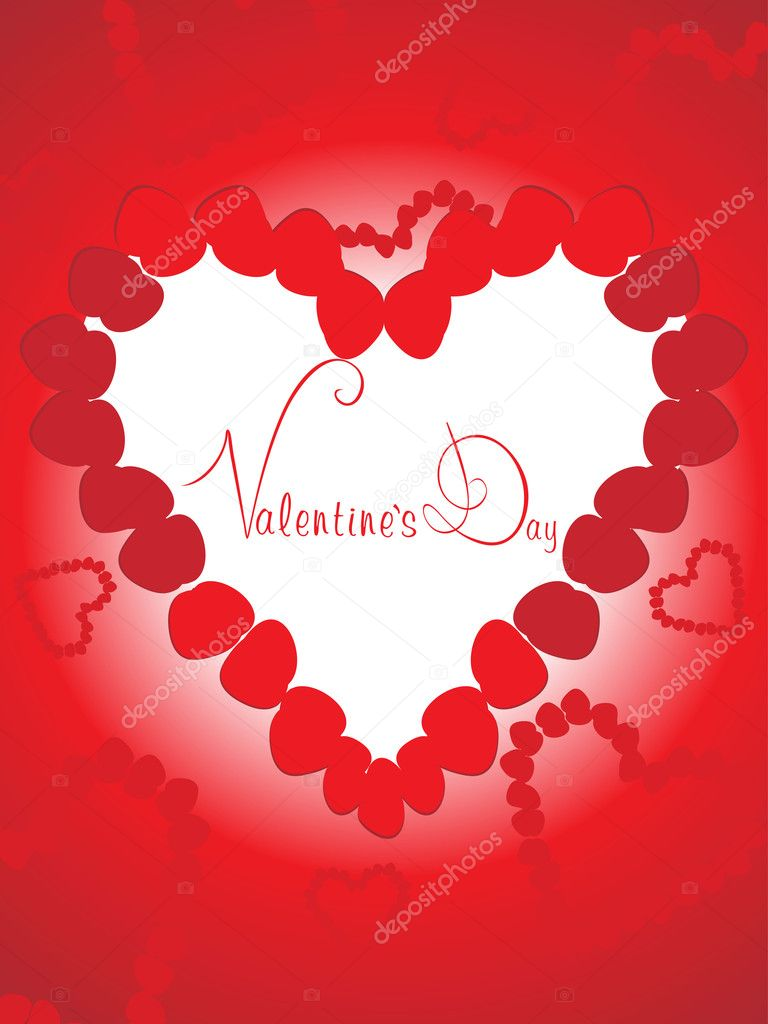 Ornamental heart background for valentine day  Stock Vector #4792176