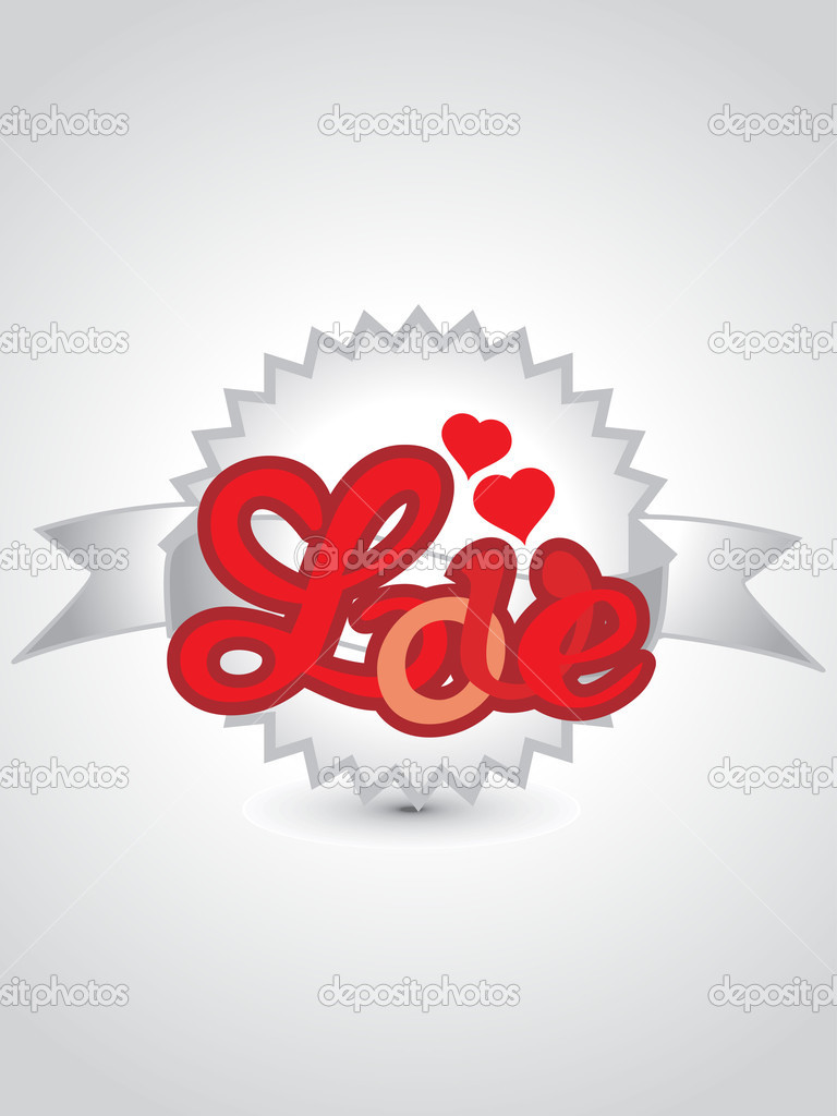 Vector illustration of stylish romantic background for valentine day  Stock Vector #4792177