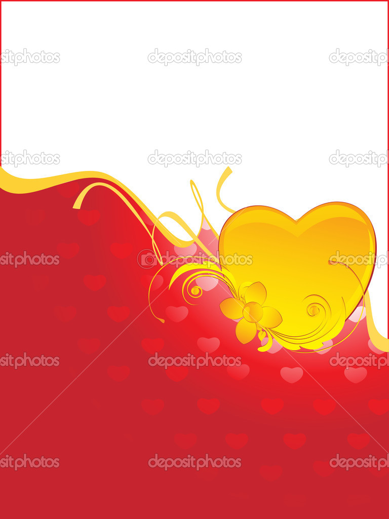 Abstract romantic backgorund, vector illustration — Stock Vector #4792178