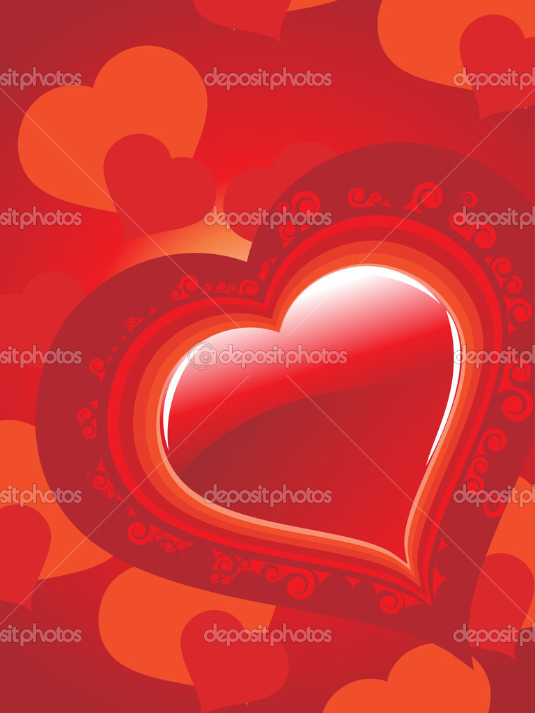 Romantic valentine day background, vector illustration  Stock Vector #4792184