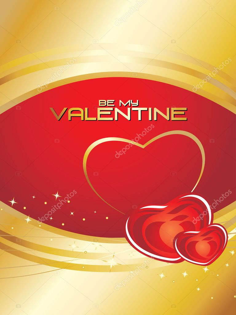 Vector illustration of be my valentine concept — Stock Vector #4792186