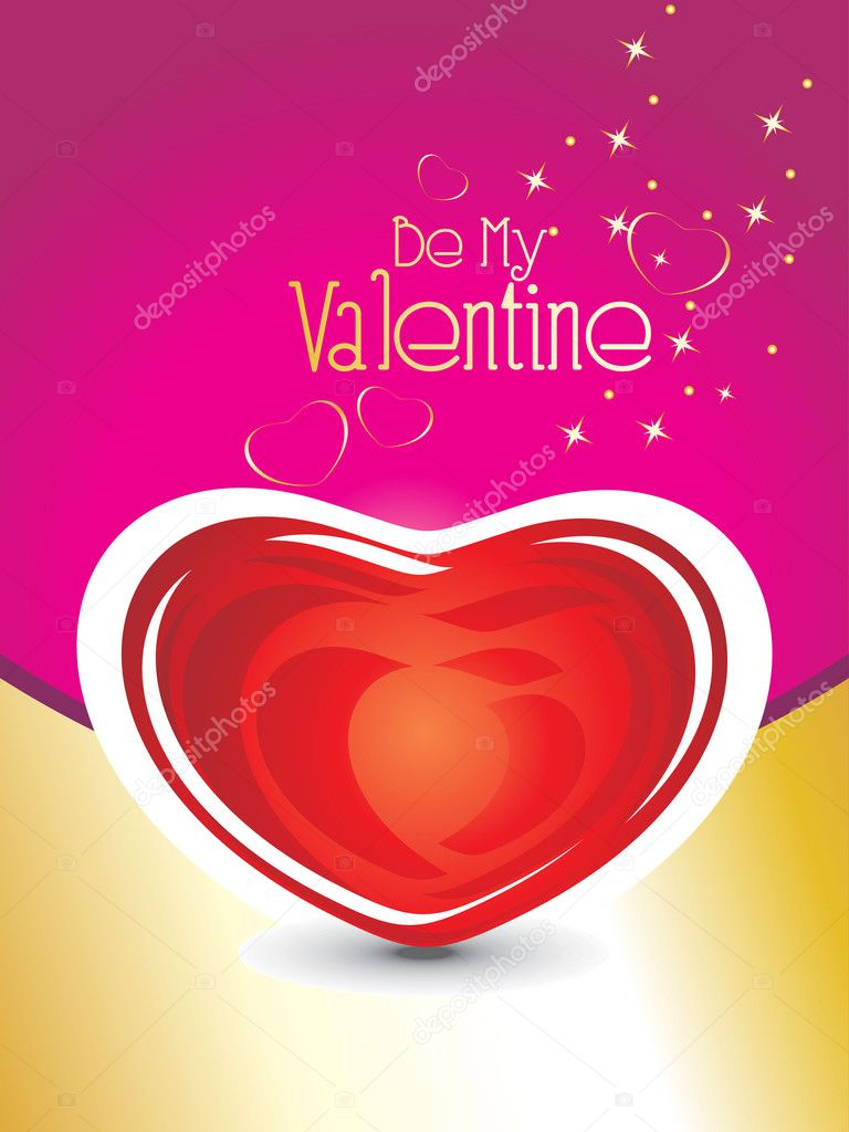 Valetine day background with romantic heart — Stock Vector #4792188