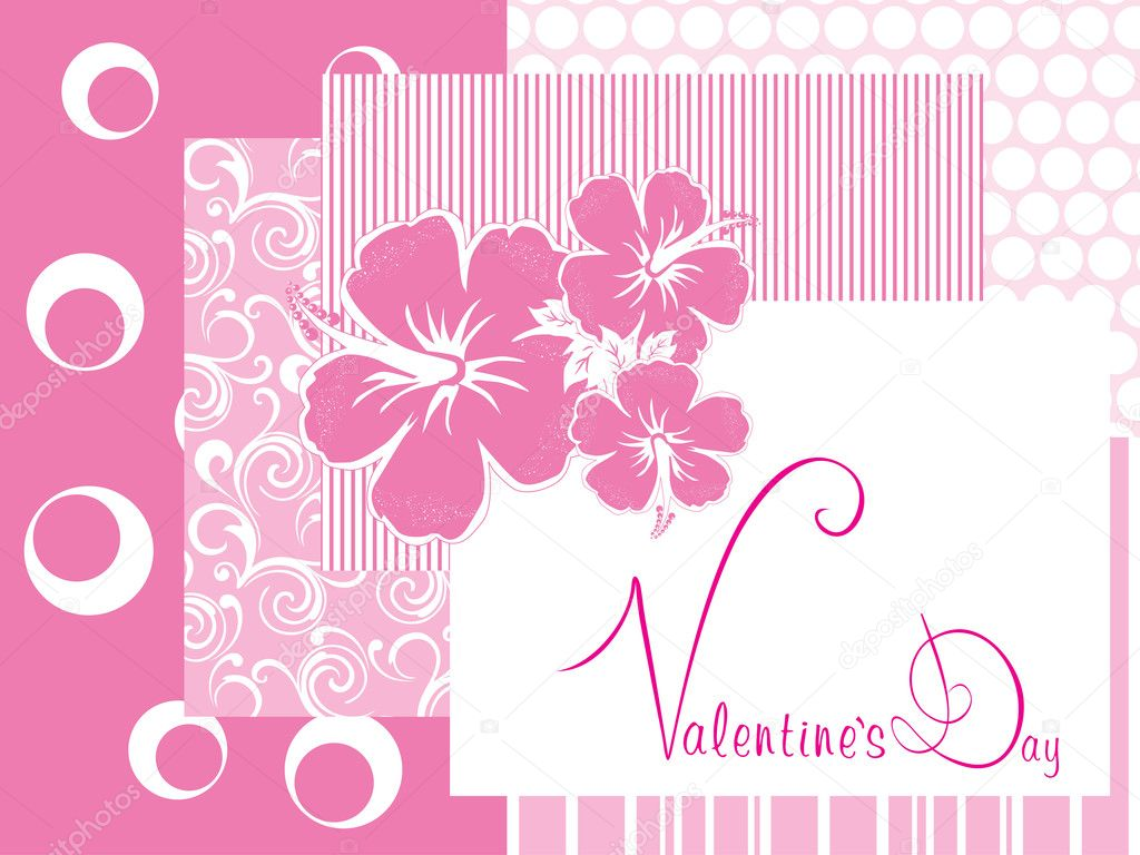 Romantic pink color illustration for valentine day — Векторная иллюстрация #4792355