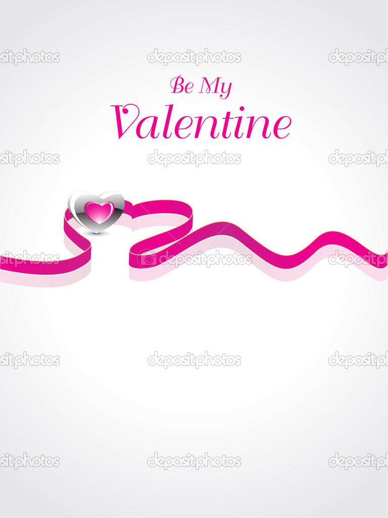 Abstract valentine day background, vector illustration — Stock Vector #4792451