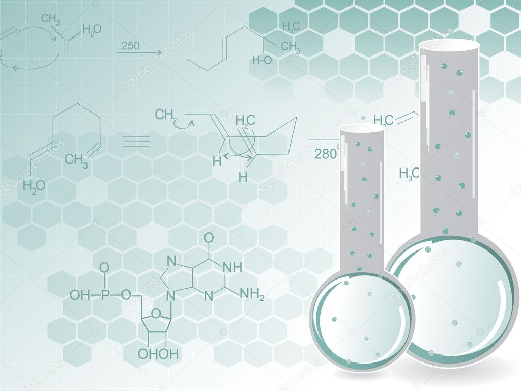 Chemical Laboratory Wallpaper With Chemical Formula