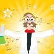 Royalty-Free Stock Immagine Vettoriale: Science research background with scientist