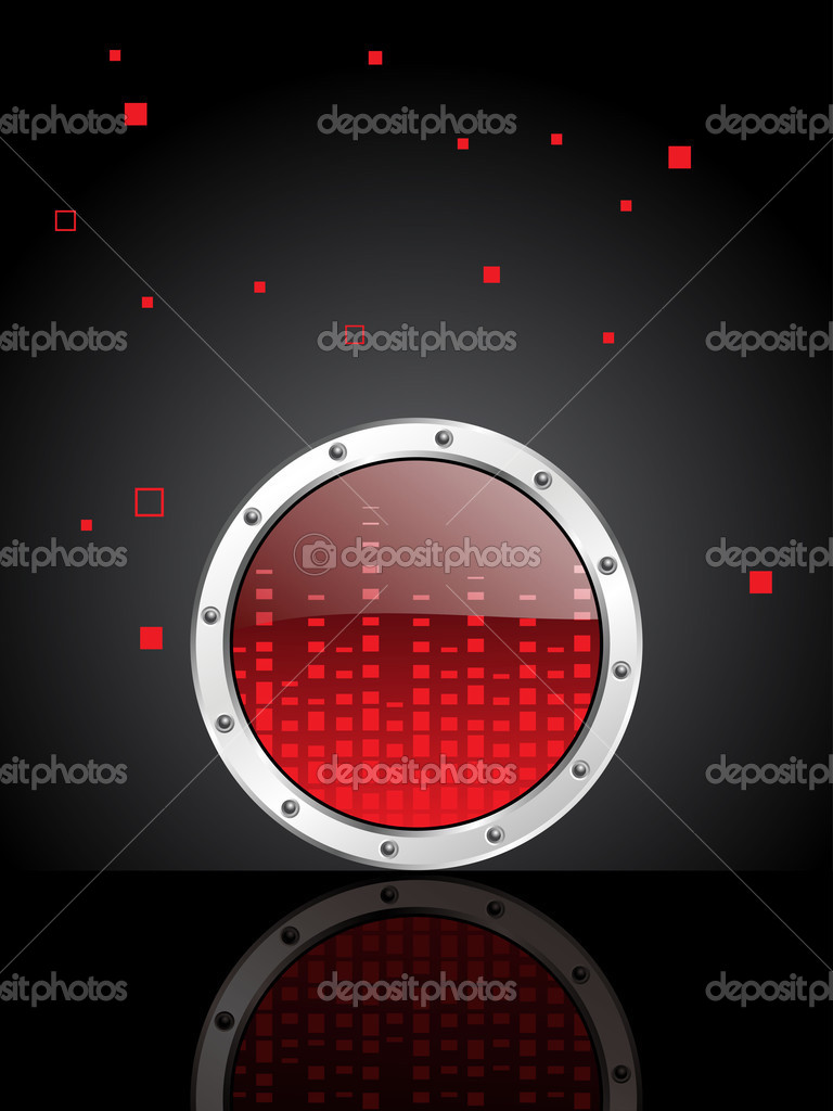 Abstract musical background with volume frequency button — Stock Vector #4830950
