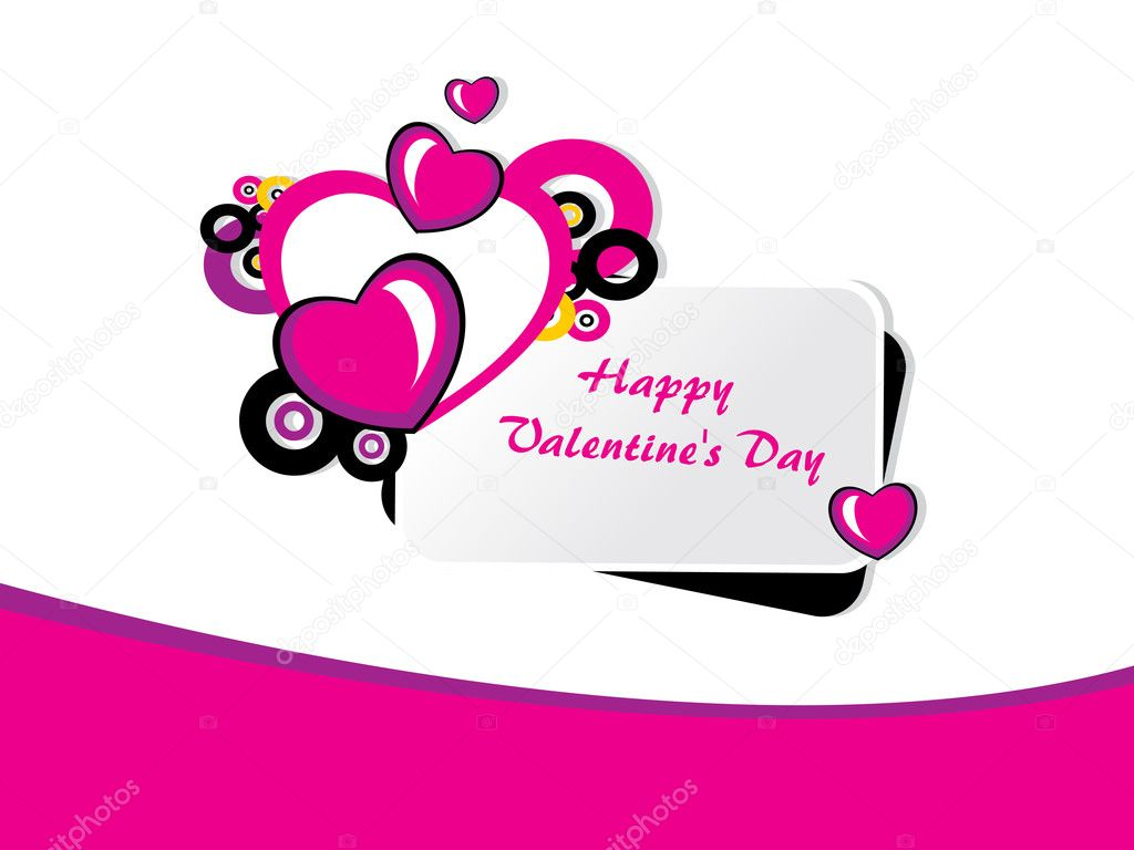 Abstract romantic concept for happy valentine day celebration — Imagens vectoriais em stock #4831062