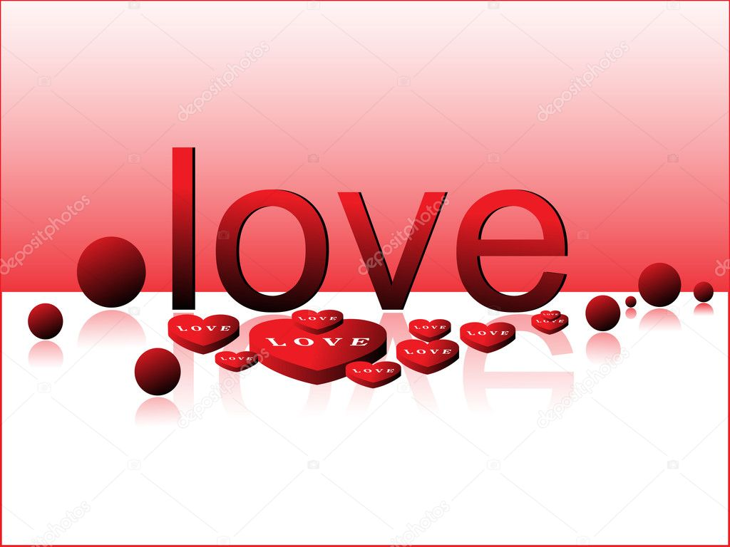 Stylish love background with heart candy  Stock Vector #4831066