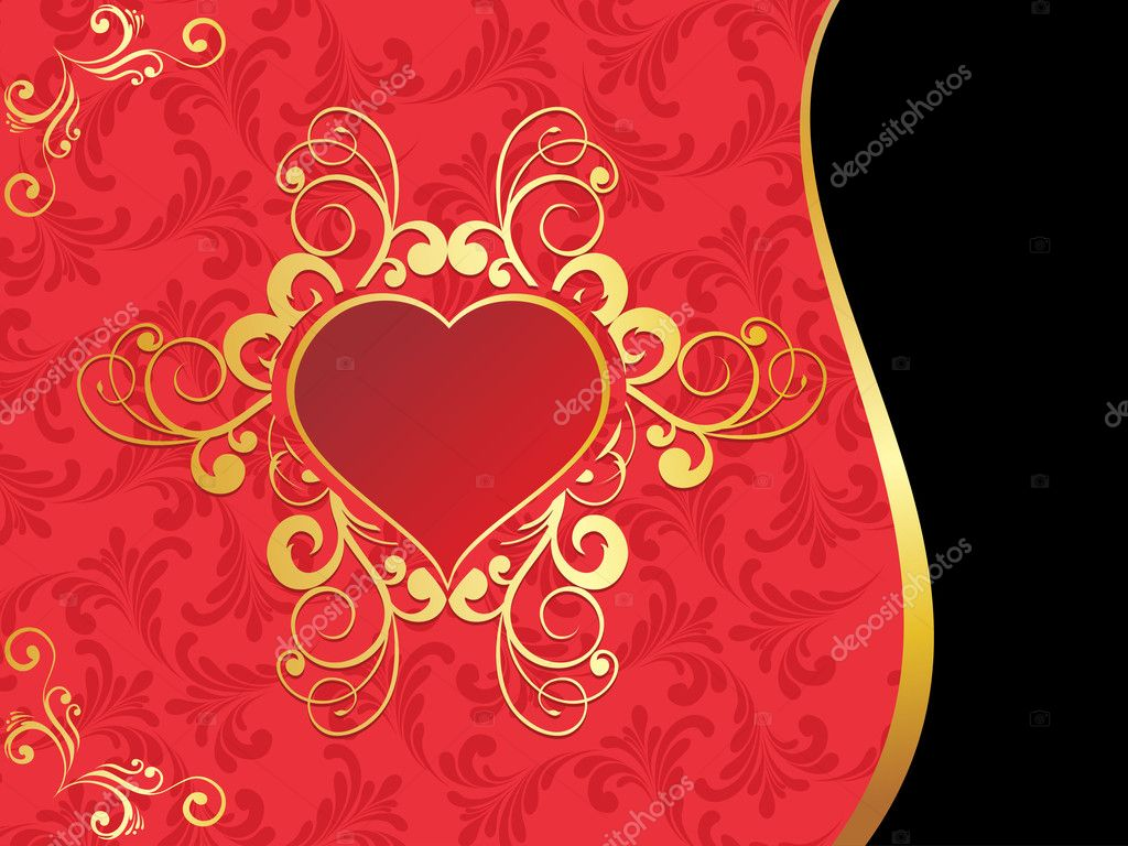 Creative artwork background with beautiful decorated heart — Stock Vector #4831075