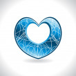 Royalty-Free Stock Vector Image: Background with isolated  blue heart