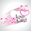 Vector love card illustration — Image vectorielle