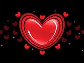 Arka plan ile romantik kalp — Stok Vektör