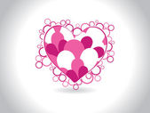 Background with isolated pink heart — Stock Vector