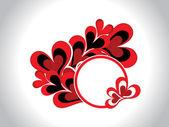 Romantiska ram för alla hjärtans dag — Stockvektor