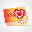 background with set of romantic love card — Векторная иллюстрация