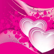 Background with set of romantic pink heart — Stock Vector #4881665