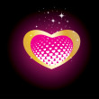 Beautiful heart isolated on background — Imagen vectorial