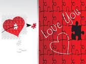 Sevgililer günü için illüstrasyon — Stok Vektör