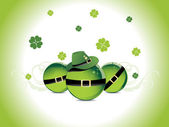 Background for patrick day — Vector de stock