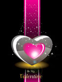 Fundo com grande romântico coração — Vetorial Stock