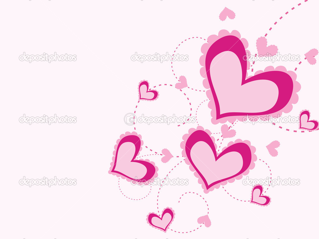 Pink romantic design illustration for valentine day  Stock Vector #4881232