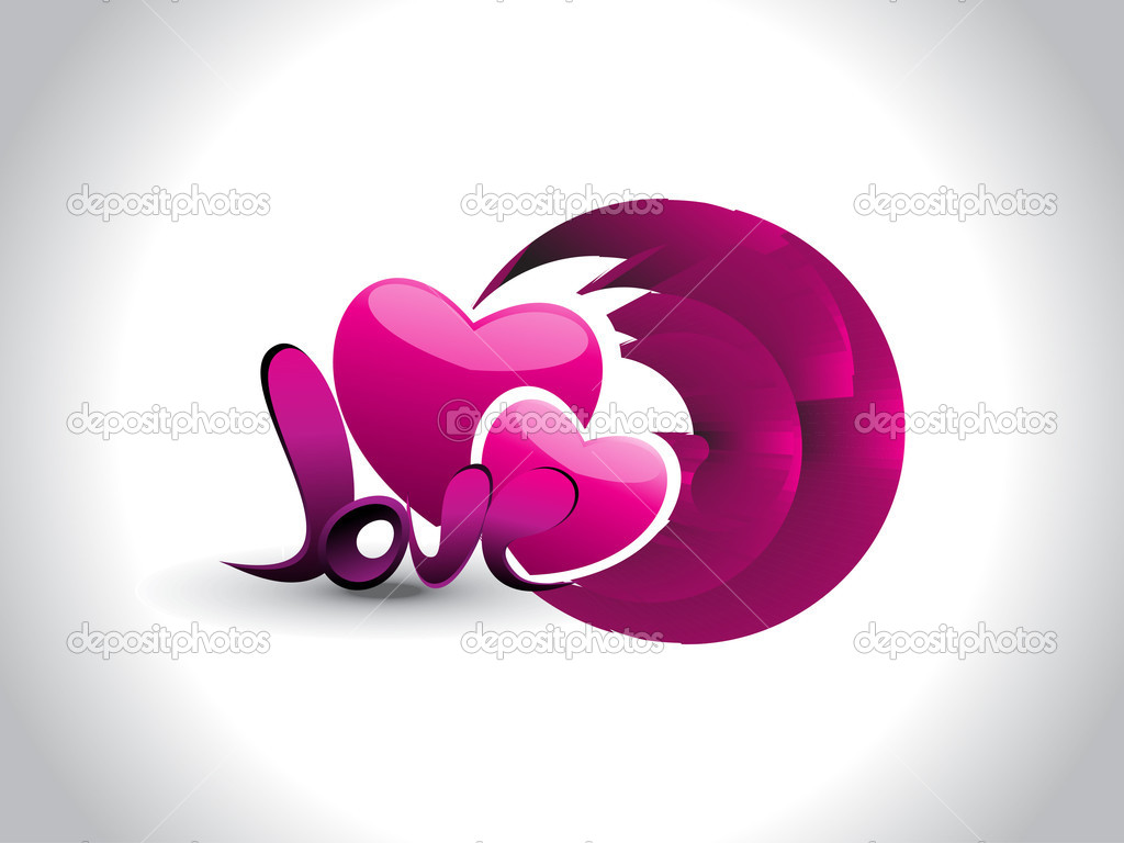 Abstract effect background with magenta heart, love  Stock Vector #4881642
