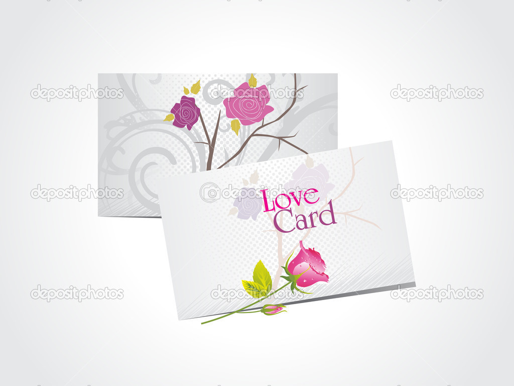 Abstract white background with set of romantic love cards — Vektorgrafik #4881699