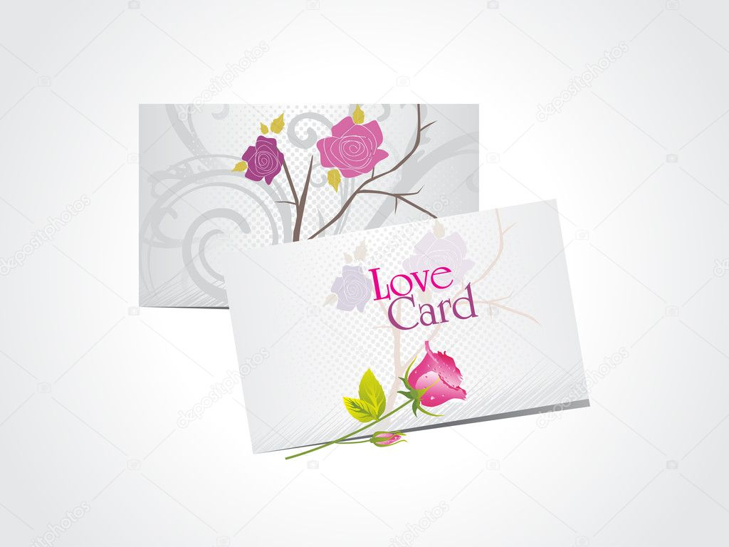 Abstract white background with set of romantic love cards — ベクター素材ストック #4881699