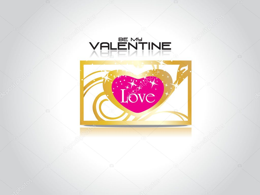 Abstract grey background with isolated love card — Stock Vector #4881707