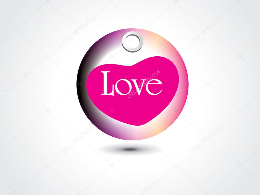 Vector illustration of isolated love tag — Stock Vector #4881725