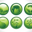Royalty-Free Stock  : Vector set of six go green concept icons