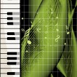 Background with piano, musical notes — Imagen vectorial
