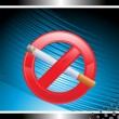 Illustration for no smoking — Stock Vector