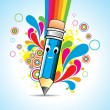 Vector Cartoon pencil — Stock Vector